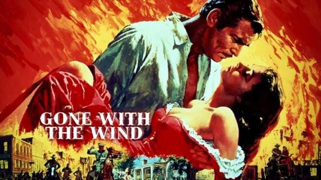 Gone With The Wind (Cuốn theo chiều gió) đánh giá là một trong những tác  phẩm điện ảnh kinh điển nhưng chỉ giành vị trí áp chót trên bảng xếp hạng.